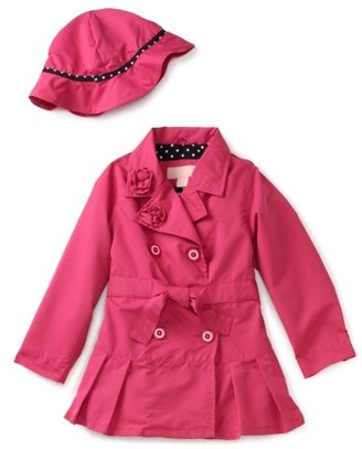 London Fog Toddler Girls Toddler Solid Trench Coat