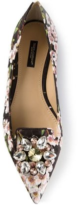 Dolce & Gabbana floral print slippers