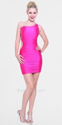 Atria Rhinestone Straps One Shoulder Homecoming Dresses