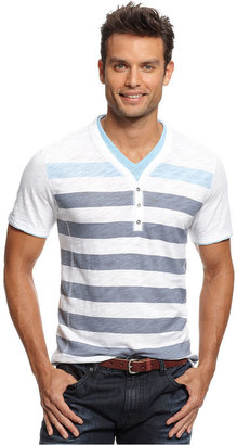 INC International Concepts Shirt, Short Sleeve Y Neck Isall T Shirt
