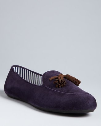 Charles Philip Ronald Suede Tassel Loafers