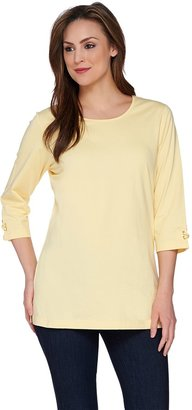 Denim & Co. 3/4 Sleeve Knit Tunic with Sleeve Detail