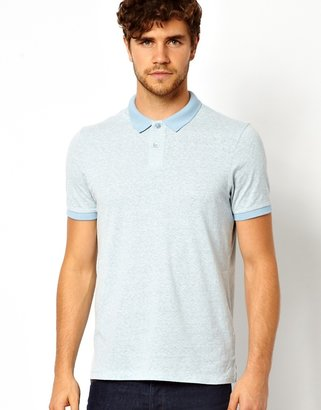 Asos Polo With Textured Fabric