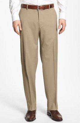 BOSS 'Jeffrey US' Flat Front Wool Trousers