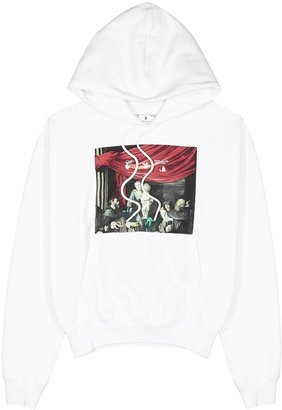 Off-White Caravaggio Printed Hooded Cotton Sweatshirt