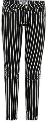 Paige Skyline stripe mid-rise skinny jeans