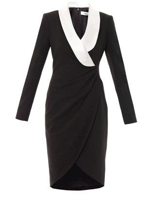 Prabal Gurung Contrast lapel fitted dress