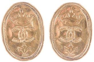 Chanel stamped logo earrings