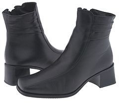 La Canadienne Julia (Black Leather) - Footwear