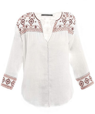 Velvet Navajo embroidered top