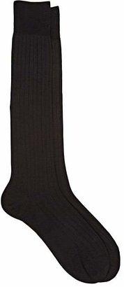 Barneys New York Men's Rib-Knit Over-The-Calf Socks $55 thestylecure.com