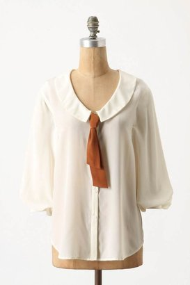 Anthropologie Slouched Sailor Blouse