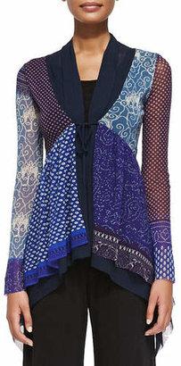 Jean Paul Gaultier Printed Patchwork Tie Cardigan $560 thestylecure.com