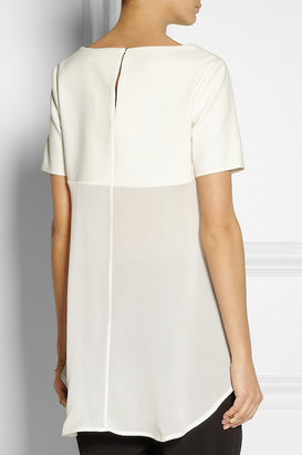 Elizabeth and James Cerise jersey and silk-crepe top