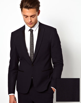 Asos Slim Fit Suit Jacket in Gingham Check
