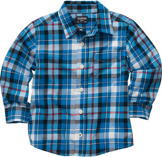 Osh Kosh Plaid Poplin Shirt