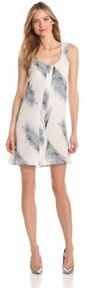 Lilla P Women's Printed Woven Sleeveless Pleated High Low Dress