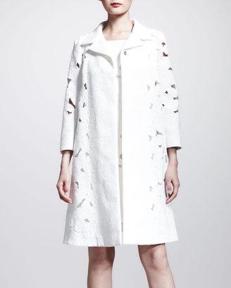 Dolce & Gabbana Brocade Lace Swing Coat
