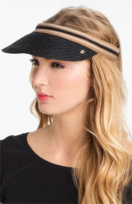 Women's Helen Kaminski 'Marina' Visor - Grey $95 thestylecure.com