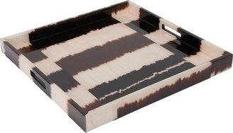 "Madeline Weinrib 20"" Striped Tray"