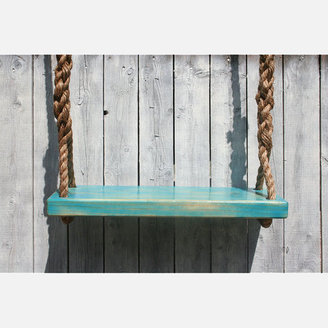 Hogan Woodworks Double-Rope Tree Swing Med Blue