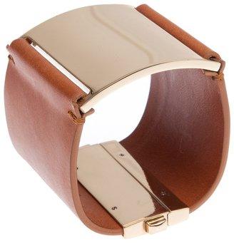Maison Martin Margiela leather and brass bracelet