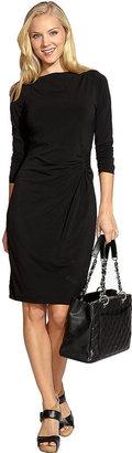 Karen Kane Scoop Neck Shirred Dress