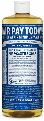 Peppermint Castile Liquid Soap by Dr. Bronner's (32oz Liquid)