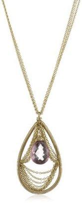 Dana Kellin Spectacular Chain Swag Teardrop Pendant Necklace