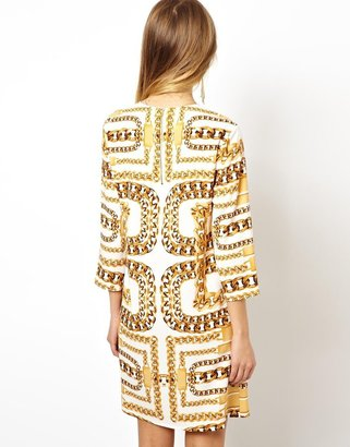 Asos Chain Print Shift Dress