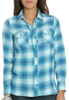Wet Seal WetSeal Plaid Flannel Shirt Blue