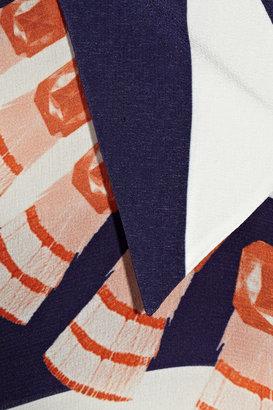 Mother of Pearl Keres printed silk crepe de chine shirt