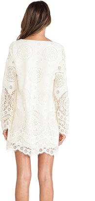 Twelfth St. By Cynthia Vincent By Cynthia Vincent Lace Up Bell Sleeve Dress