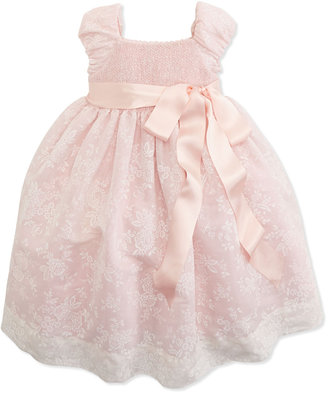 Ralph Lauren Smocked Floral-Print Organza Dress, 2T-3T