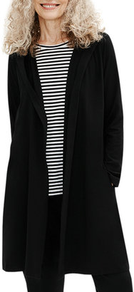 Eileen Fisher Petite Organic Cotton Hooded Wrap Jacket