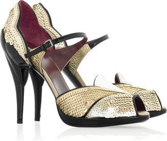 Miu Miu Paillette covered sandals
