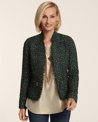 Chico's Emerald Tweed Jacket