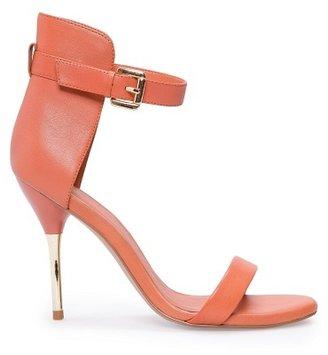 MANGO TOUCH - Metallic heel sandals