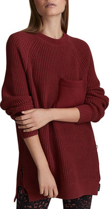 Varley Matteson Side-Zip Knit Sweater