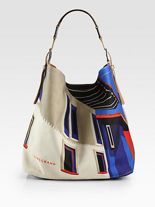 Longchamp Finca Luisa Canvas Hobo