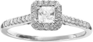 Vera Wang Simply Vera Diamond Halo Engagement Ring in 14k White Gold (1/2 ct. T.W.)
