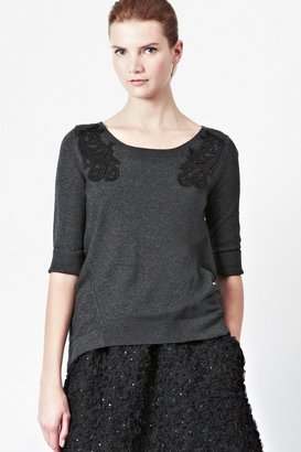 French Connection Bach Knitted Appliqué Jumper