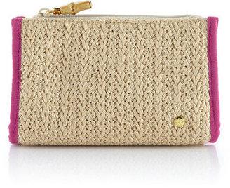 Stephanie Johnson Raffia Small Zip Bag