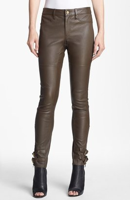 Rachel Zoe 'Suzie' Skinny Leather Pants Womens Saddle Size 10 10