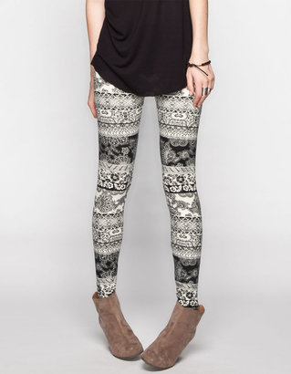 Full Tilt Lace Print Womens Leggings