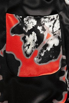 Topshop **Printed Satin Jumpsuit by Unique
