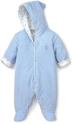 Noa Lily Infant Boys' Blue and White Stripe Velour Bunting - Sizes 3-9 Months