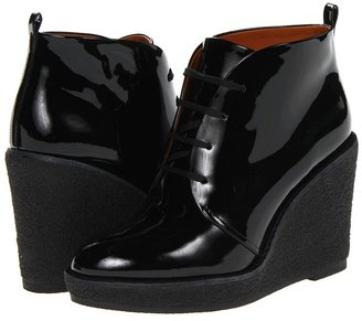 Marc by Marc Jacobs Patent Crepe Wedge Boot (Black Patent) - Footwear
