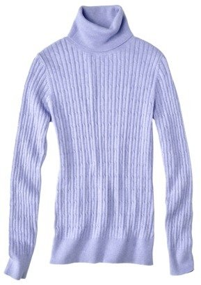 Merona Women's Cable Knit T-Neck Sweater
