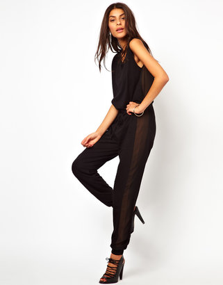 Asos Jumpsuit With Sheer Back